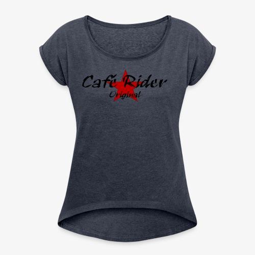 Café Rider Original étoile - T-shirt à manches retroussées Femme