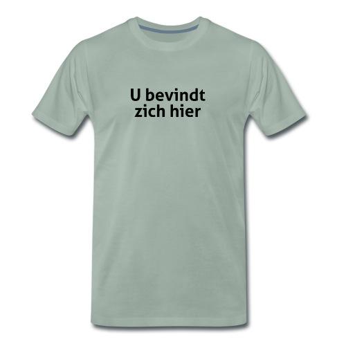 U bevindt zich hier mannen premium - Mannen Premium T-shirt