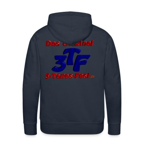 Kapuzenpullover für Männer hinten mit 3TF-Logo, vorne mit Name - Männer Premium Hoodie