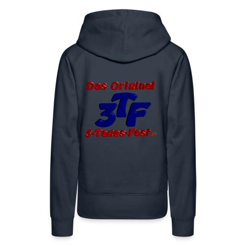 Kapuzenpullover für Frauen hinten mit 3TF-Logo, vorne mit Name - Frauen Premium Hoodie