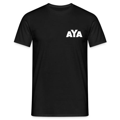 AYA - T-Shirt - weißes Logo - hinten und vorne - Männer T-Shirt