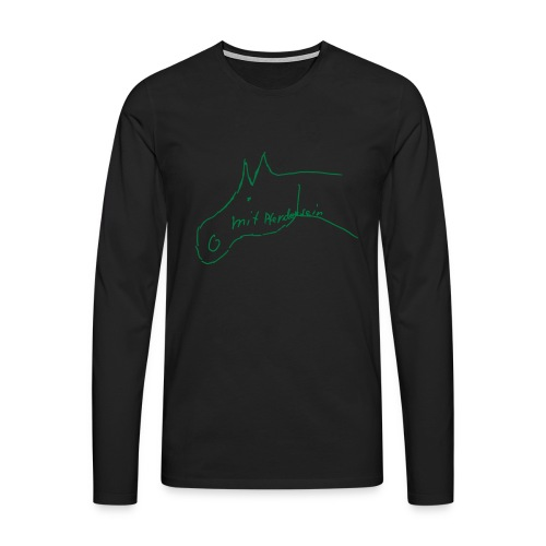 Pferdchen -  Men Longsleeve (Print: Green Glitter) - Männer Premium Langarmshirt