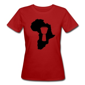 Djembe in Afrika Bio-Shirt (Damen) - Frauen Bio-T-Shirt