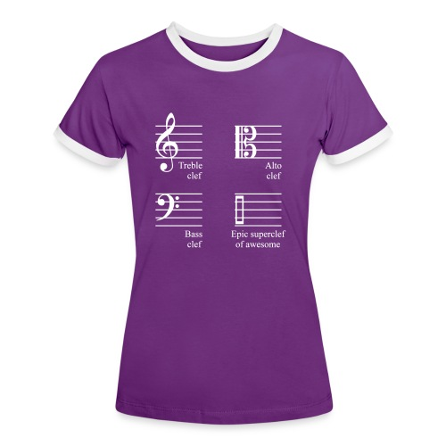 Epic superclef of awesome! Shirt (Damen) - Frauen Kontrast-T-Shirt
