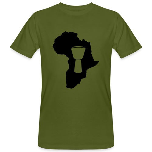 Djembe in Afrika Bio-Shirt (Herren) - Männer Bio-T-Shirt