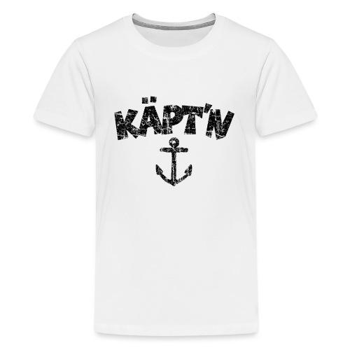 Käpt'n Anker Vintage (Schwarz) Teenager T-Shirt - Teenager Premium T-Shirt