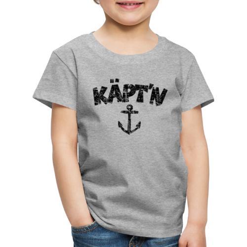 Käpt'n Anker Vintage (Schwarz) Kinder T-Shirt - Kinder Premium T-Shirt