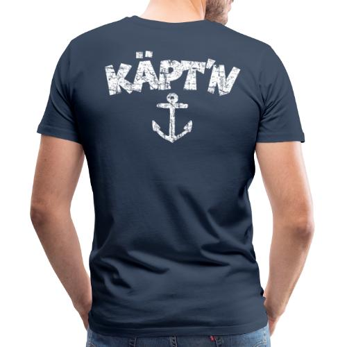 Käpt'n Anker Vintage (Weiß) S-5XL T-Shirt - Männer Premium T-Shirt