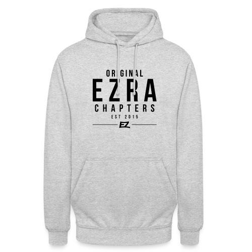 Ezra Hoodie Hipster -  Black - Unisex Hoodie