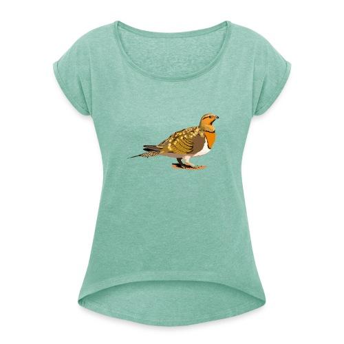 Spießflughuhn - Frauen T-Shirt mit gerollten Ärmeln