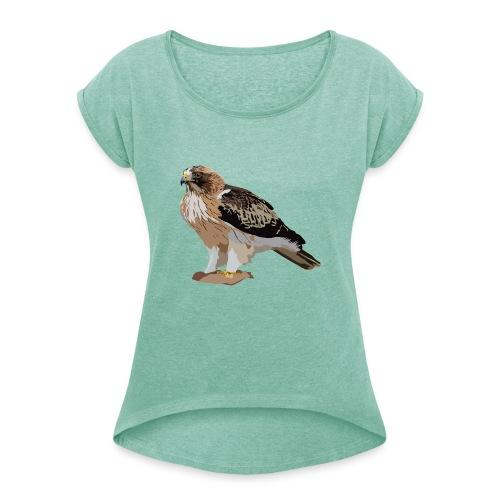 Zwergadler - Frauen T-Shirt mit gerollten Ärmeln