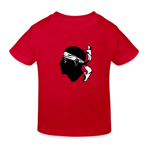 Tee shirt Bio Enfant Design Corse centre - T-shirt bio Enfant