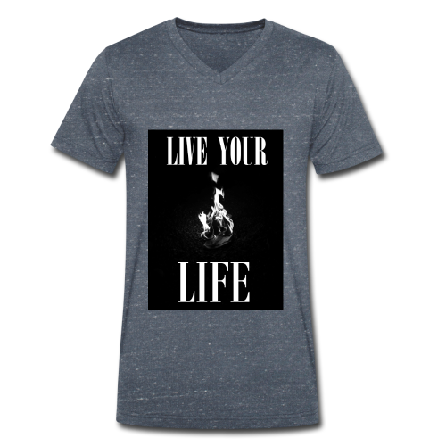 T-shirt col V live your life 2 - T-shirt bio col V Stanley & Stella Homme