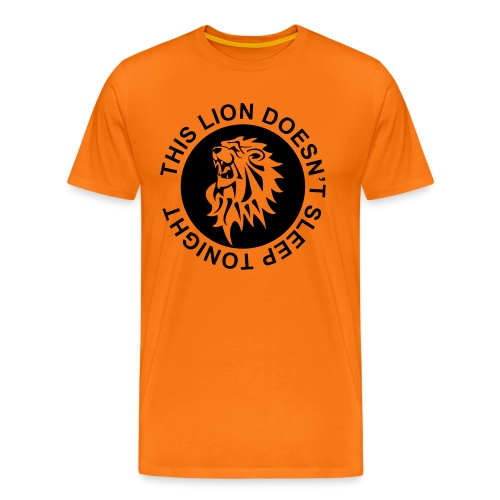 Koningsdag T-shirt This Lion doesn't sleep tonight - Mannen Premium T-shirt