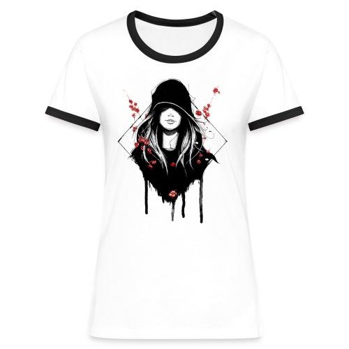 Frauen Kontrast Shirt - Frauen Kontrast-T-Shirt