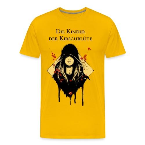 Männershirt Sonnengelb mit Text - Männer Premium T-Shirt
