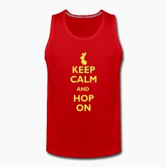 keep calm and hop on Tank topy