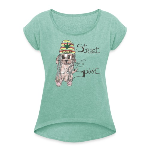 T-Shirt Femme StreetSpirit - T-shirt à manches retroussées Femme