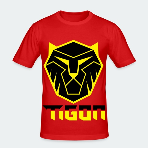 Tigon - Black and Yellow - Men's Slim Fit T-Shirt
