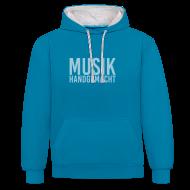 Pullover & Hoodies ~ Kontrast-Kapuzenpullover ~ Musik handgemacht - Hoodie