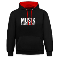 Pullover & Hoodies ~ Kontrast-Kapuzenpullover ~ Musik handgemacht-  Hoodie (mehrfarbig)