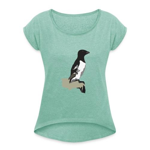 Krabbentaucher - Frauen T-Shirt mit gerollten Ärmeln