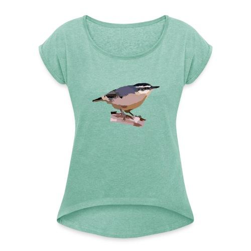 Korsenkleiber - Frauen T-Shirt mit gerollten Ärmeln