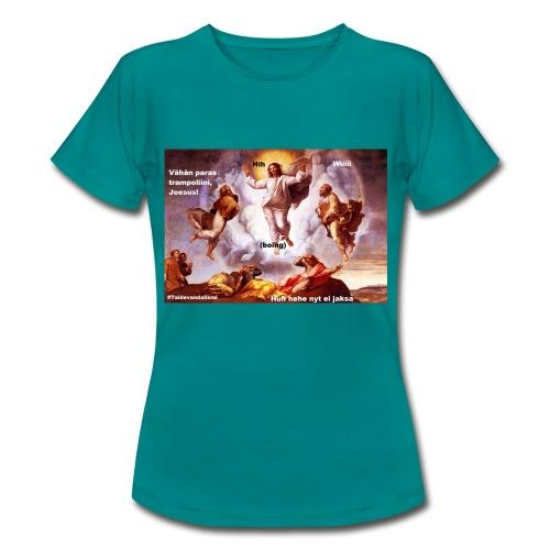Trampoliinijeesus T-paita (naisten) - Naisten t-paita