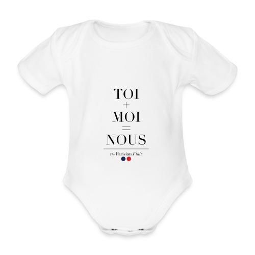 BODY BABY -  LOVE - Body bébé bio manches courtes