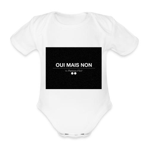 BODY BABY - Oui mais Non noir - Body bébé bio manches courtes