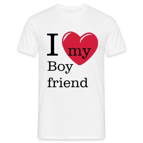 I Love my Boyfriend - Valentinstag Shirt - Männer T-Shirt