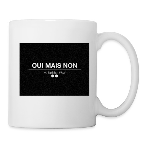 MUG - UI MAIS NON (black) - Mug blanc
