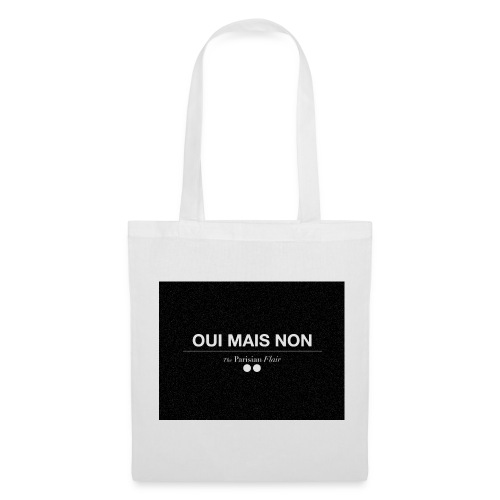 EASY - OUI MAIS NON  en toile blanc/noir - Tote Bag