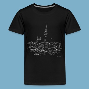 City Motic Berlin Zeichnung - Teenager Premium T-Shirt