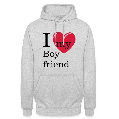 I Love my Boyfriend Hoodie Valentinstag - Unisex Hoodie