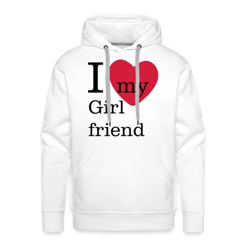 I love my Girlfriend Hoodie Valentinstag - Männer Premium Hoodie
