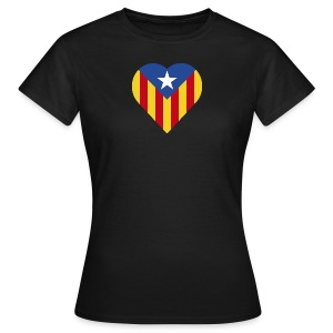 Blue Estelada Catalonia Heart - Women's T-Shirt