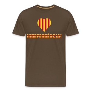 Independencia Catalonia Heart - Men's Premium T-Shirt
