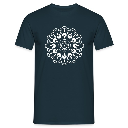 Mens T - WHITE print - varying shirt colours - Men's T-Shirt