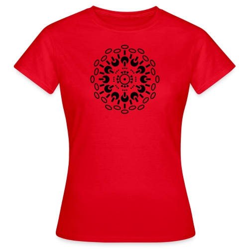 Womens T - BLACK print - varying shirt colours - Women's T-Shirt