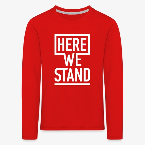 Longsleeve Kids rot - Kinder Premium Langarmshirt