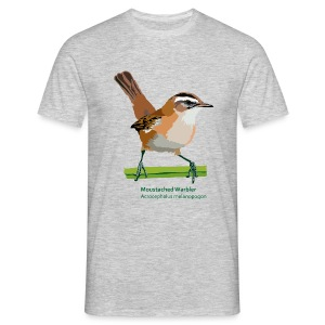 Moustached Warbler-bird-shirt - Männer T-Shirt