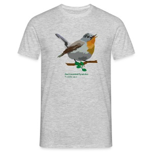 Red-breasted flycatcher-bird-shirt - Männer T-Shirt