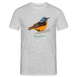 Rufous-tailed Rock-Thrush-bird-shirt - Männer T-Shirt