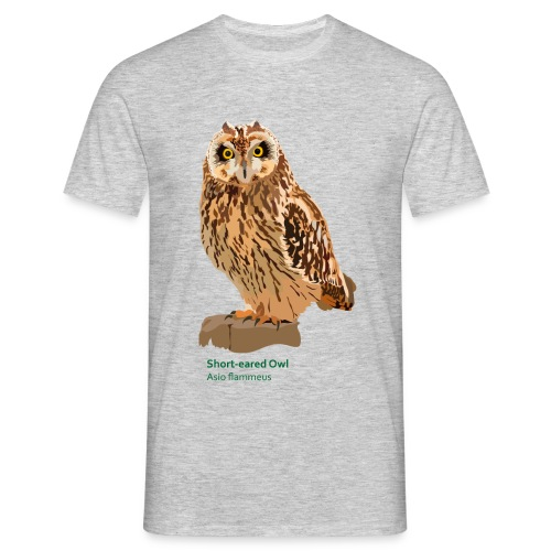 Short-eared Owl-bird-shirt - Männer T-Shirt