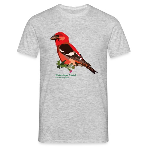 White-winged Crossbill-bird-shirt - Männer T-Shirt