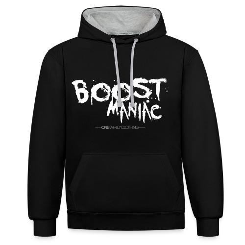 BOOST MANIAC - Kontrast-Hoodie