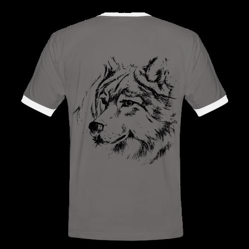 Tee shirt contraste homme loup tilou - T-shirt contrasté Homme