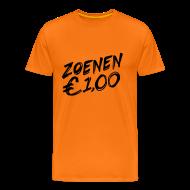 T-shirts ~ Mannen Premium T-shirt ~ Koningsdag T-shirt: Zoenen, 1 euro