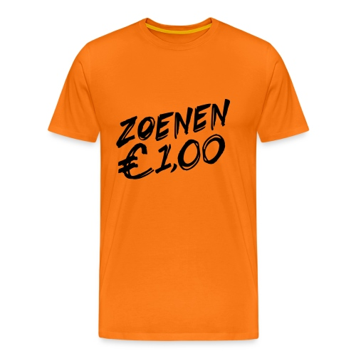 Koningsdag T-shirt: Zoenen, 1 euro - Mannen Premium T-shirt